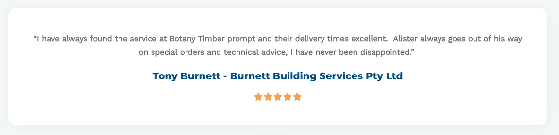Burnett Building Services - Testimonial