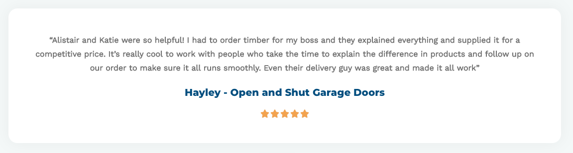 Open & Shut Garage Doors - Testimonial