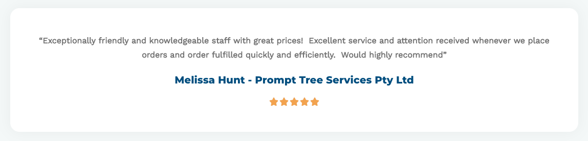 Prompt Tree Services - Testimonial